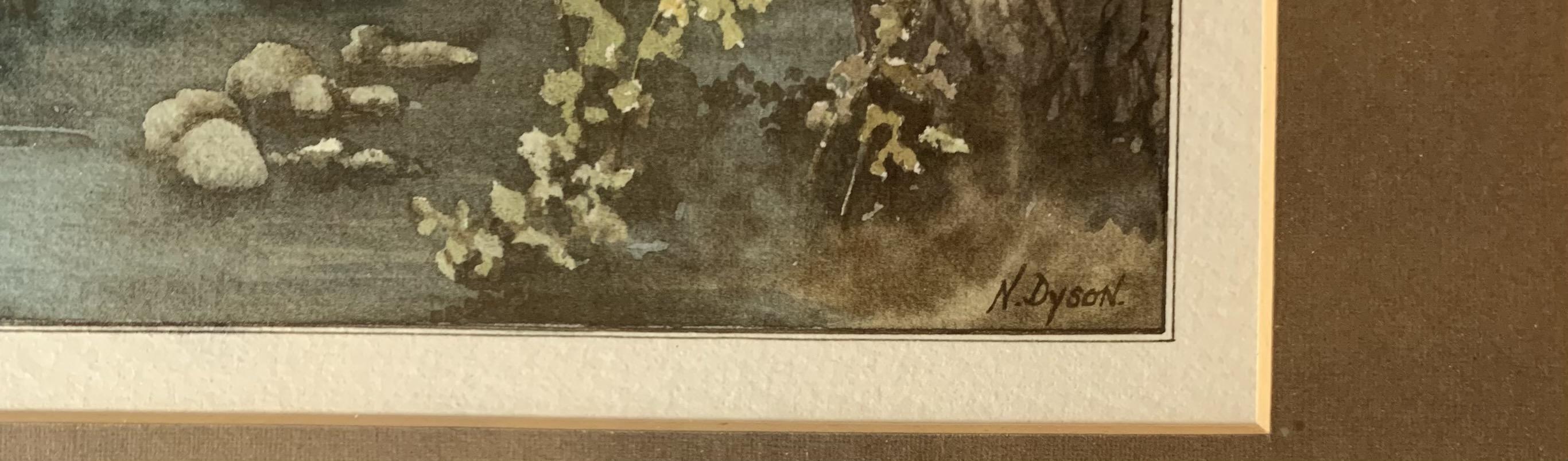 "2 Watercolours - landscape by Ebenezer John Woods Prior. Image 10.5"" x 8"", frame 17"" x 14"". - Image 3 of 7"