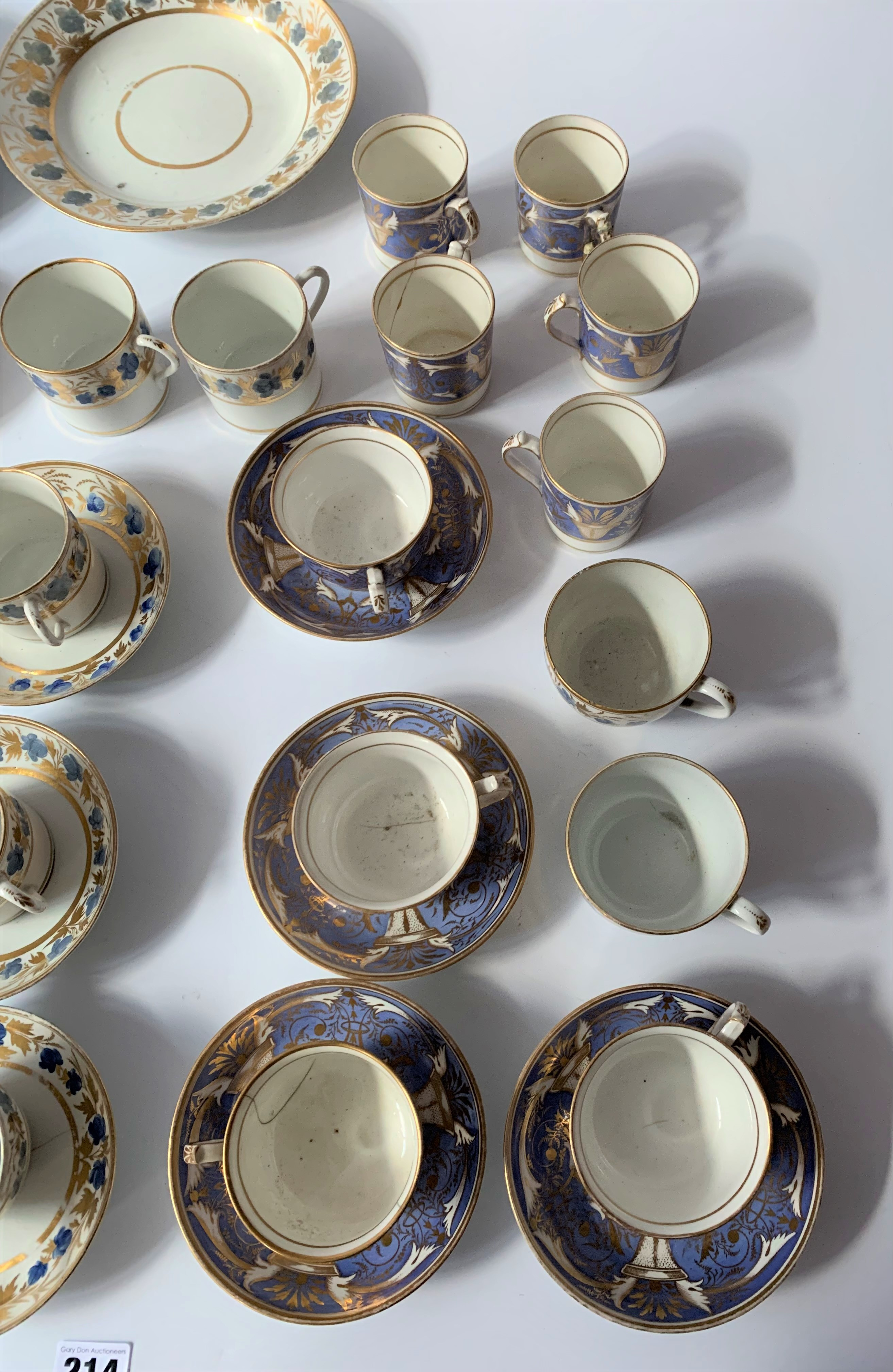 2 part blue/gilt tea and coffee sets - Image 5 of 6
