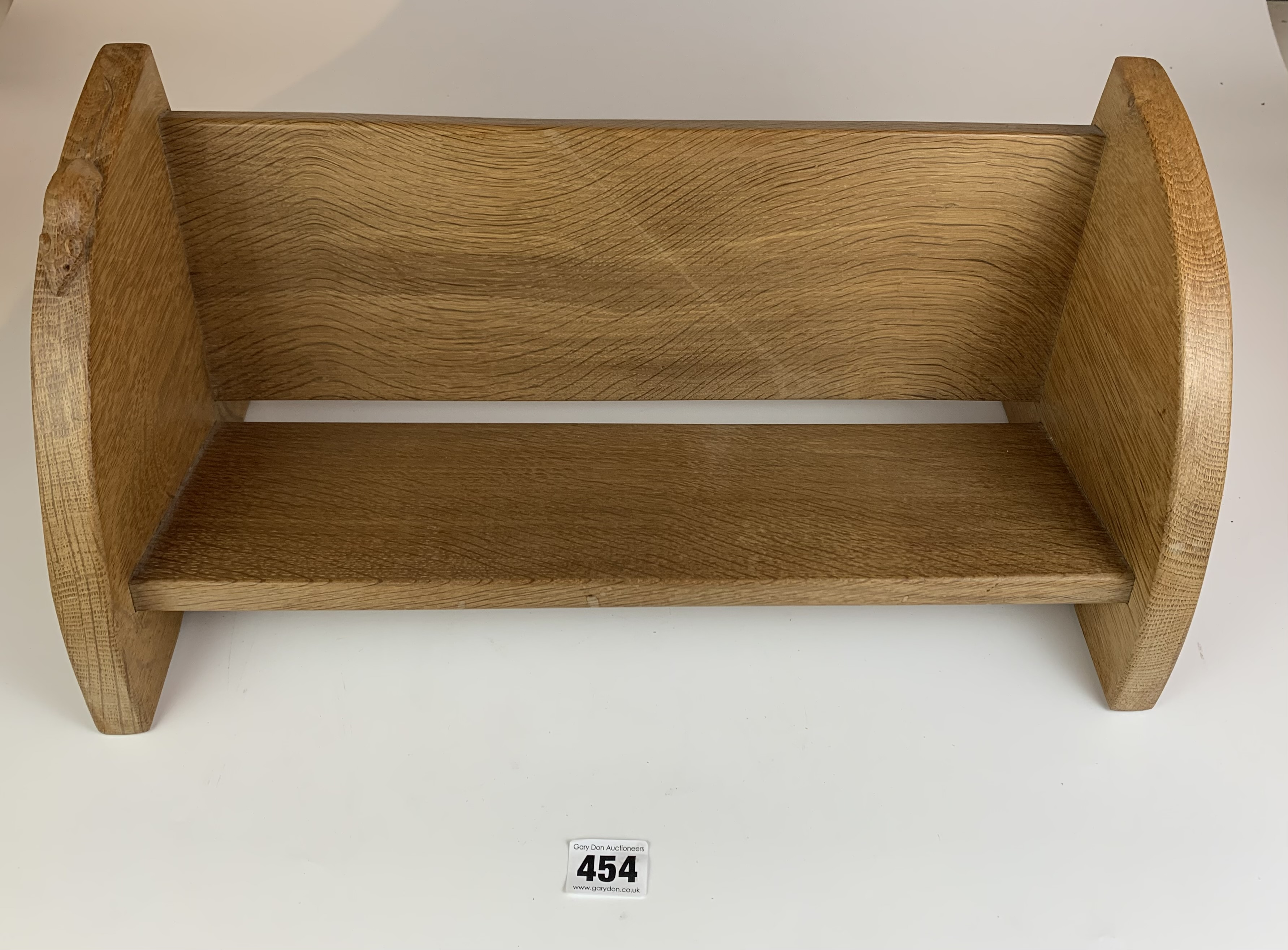 """Robert Thompson """"Mouseman"""" carved book stand 18"""" long x 8"""" wide x 8"""" high"""