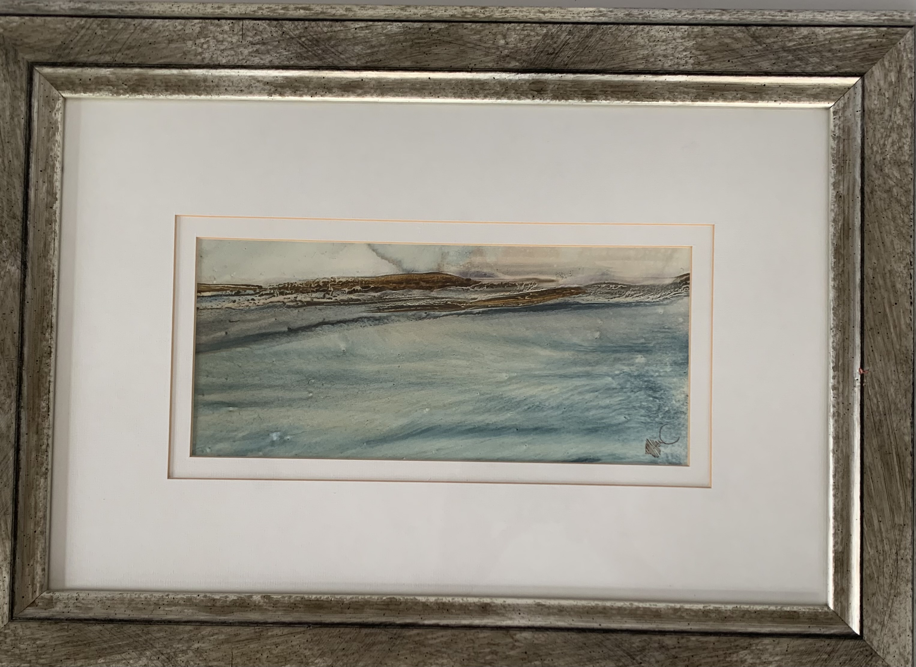 """Pair of watercolours """"Donegal Coast II"""" and """"Donegal Coast III"""" by Tony Holahan. Images 12"""" x 5. - Image 3 of 6"""