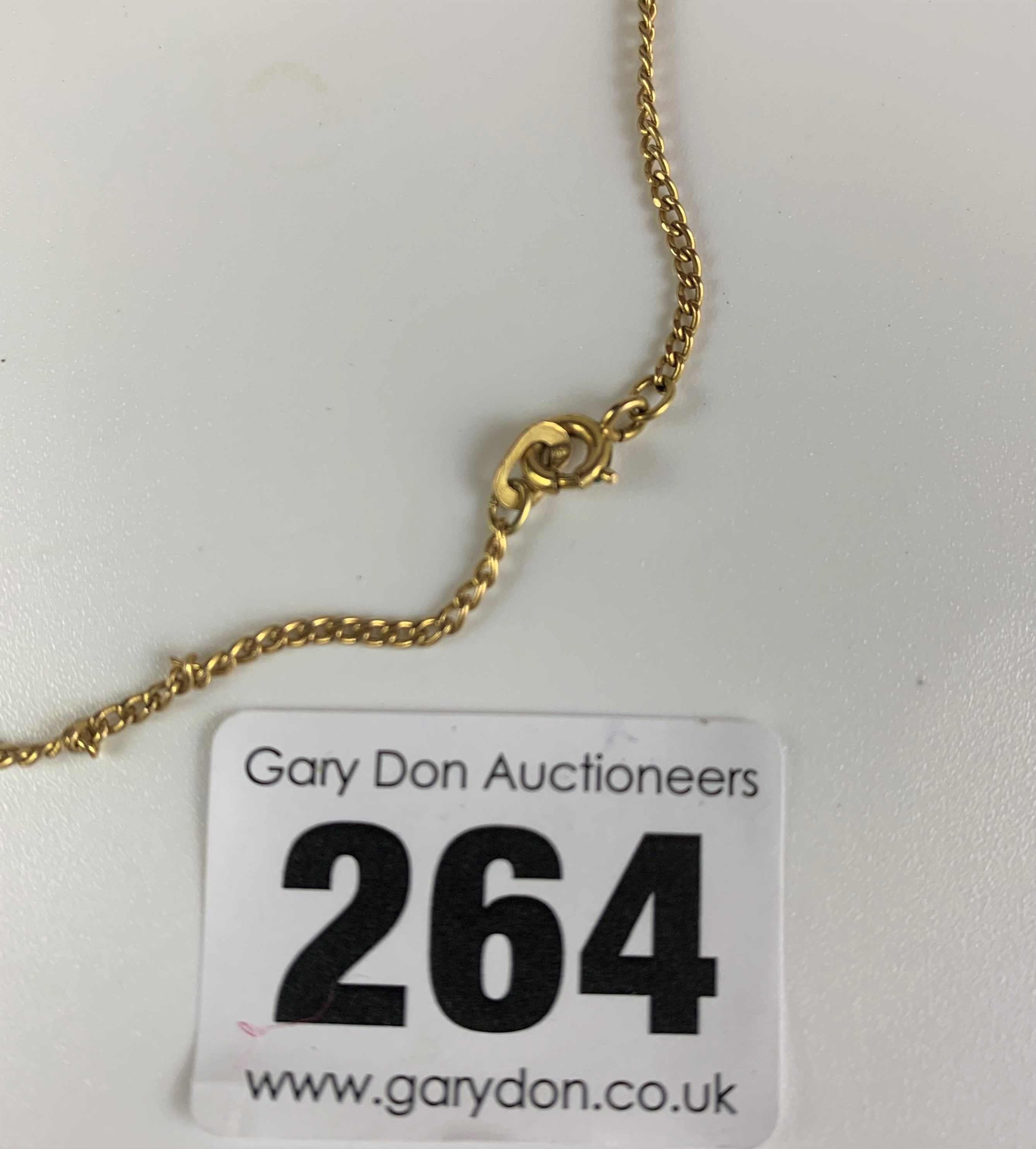 """9k gold necklace, length 26"""" and 9k gold crucifix, length 1.5"""". Total w: 11 gms - Image 5 of 5"""