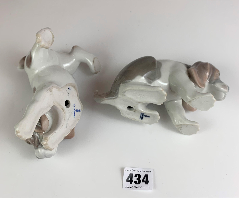 """Pair of Lladro puppies, 5"""" & 6"""" long. No damage - Image 4 of 4"""