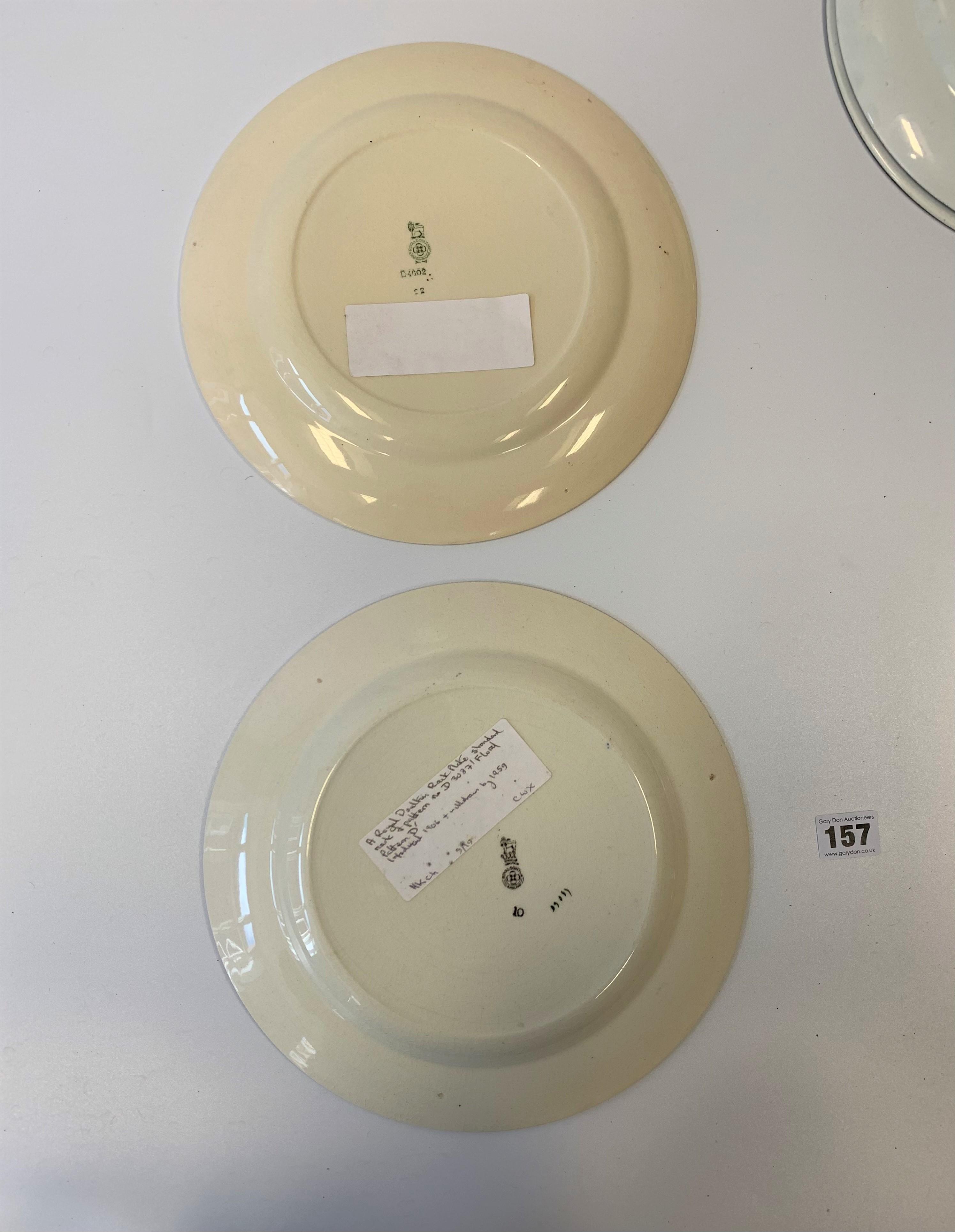 "4 Royal Doulton plates, 10.5"" diameter, shaped Royal Doulton plate 9"" diameter and Royal Doulton - Image 8 of 8"