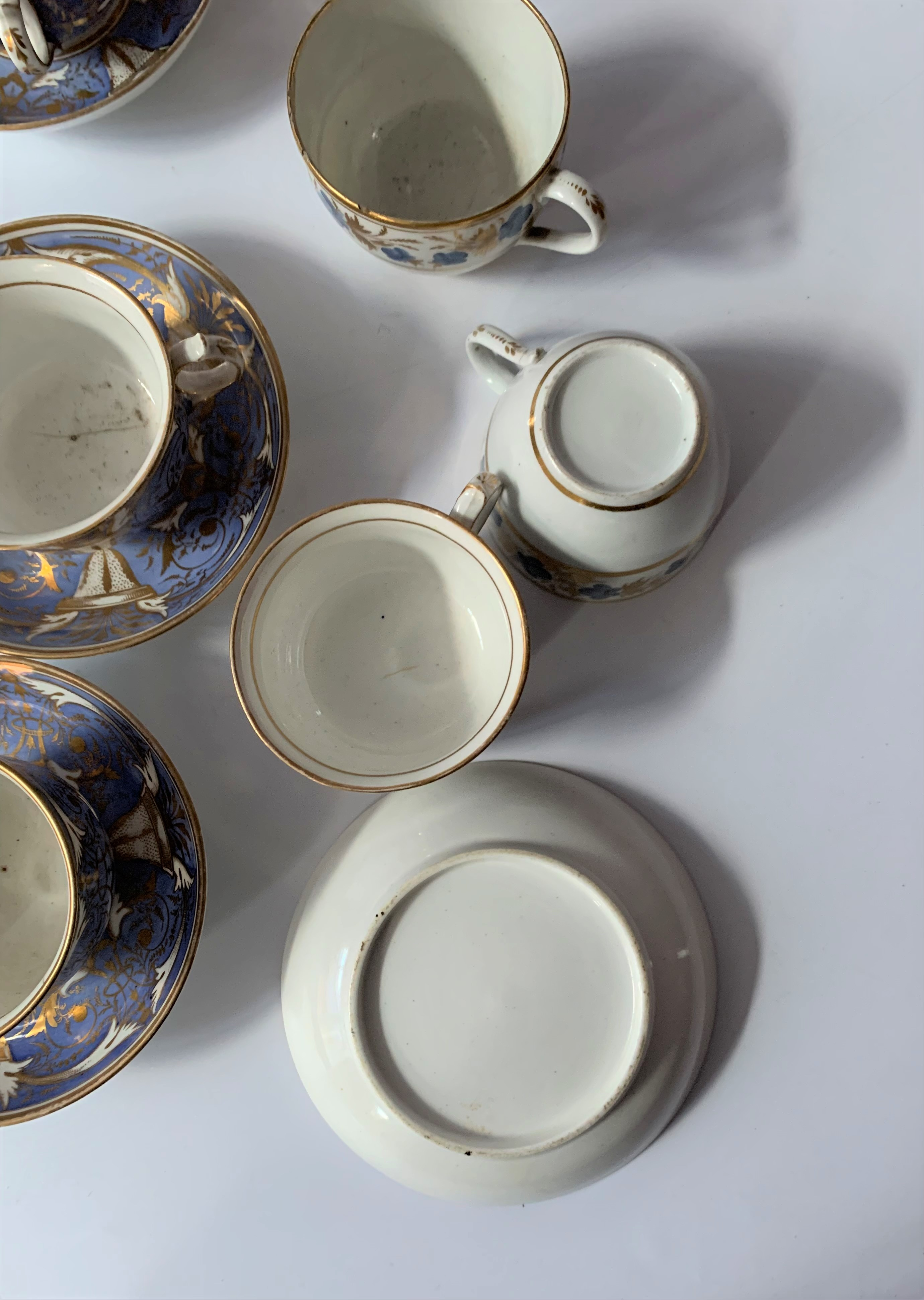 2 part blue/gilt tea and coffee sets - Image 6 of 6