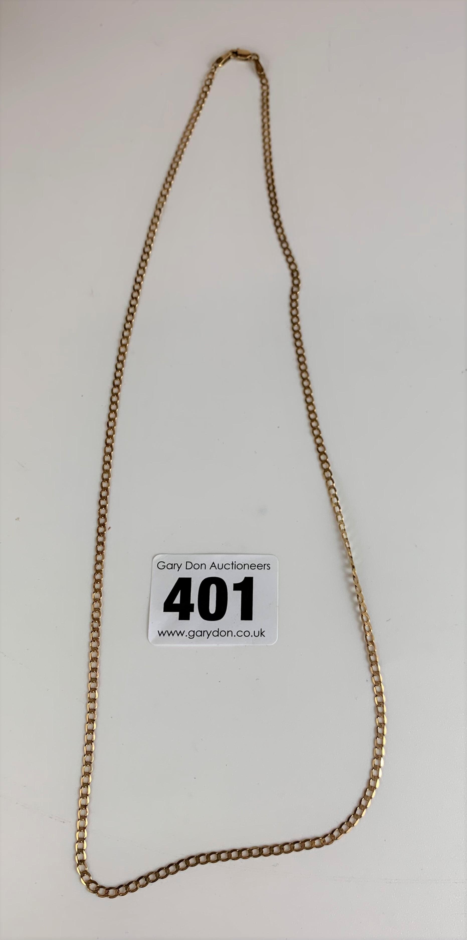 """9k gold necklace, length 20"""", w: 2.5 gms"""