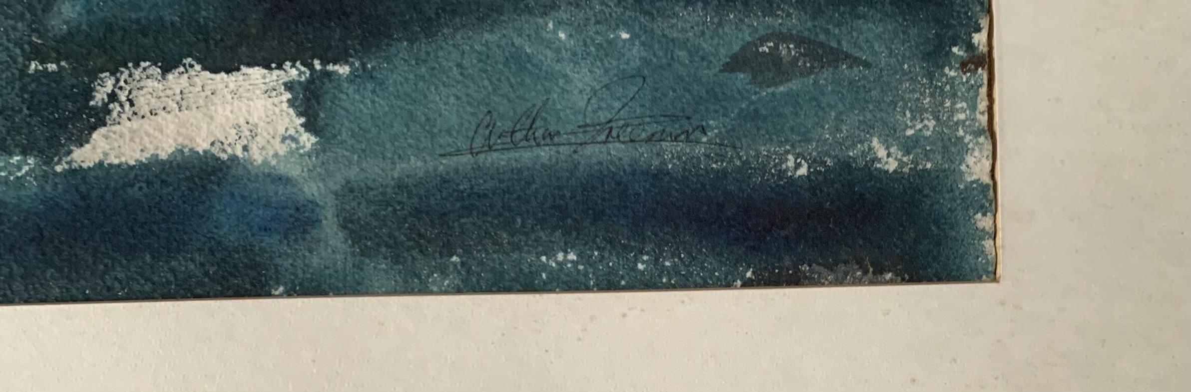 "Acrylic abstract by Arthur Freeman, image 16"" x 13"", frame 21.5"" x 19"" - Image 2 of 3"