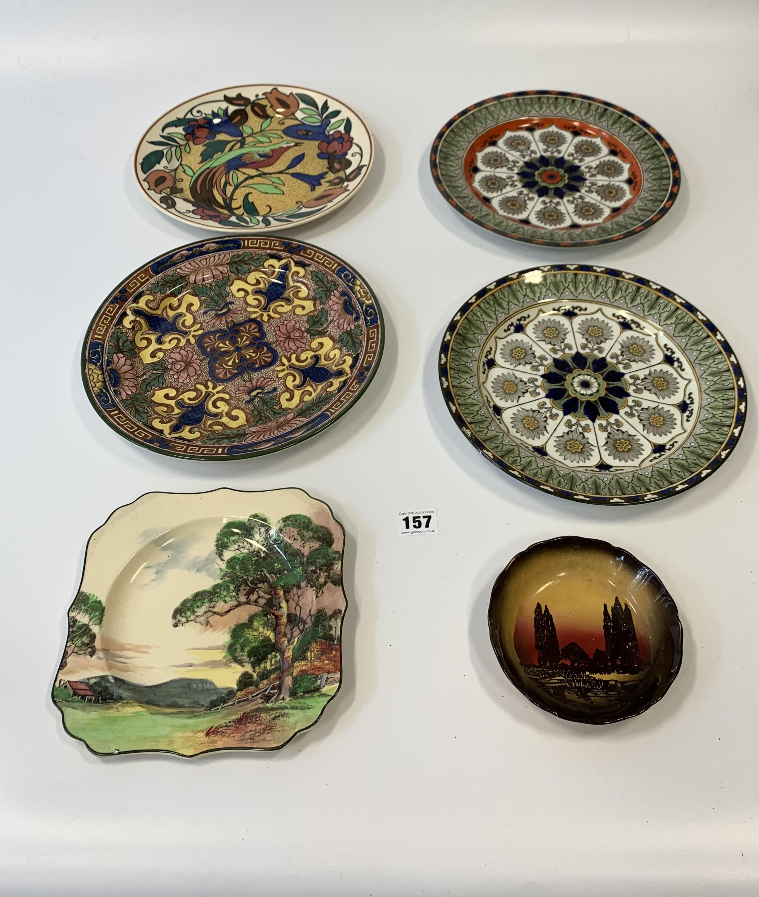 "4 Royal Doulton plates, 10.5"" diameter, shaped Royal Doulton plate 9"" diameter and Royal Doulton"