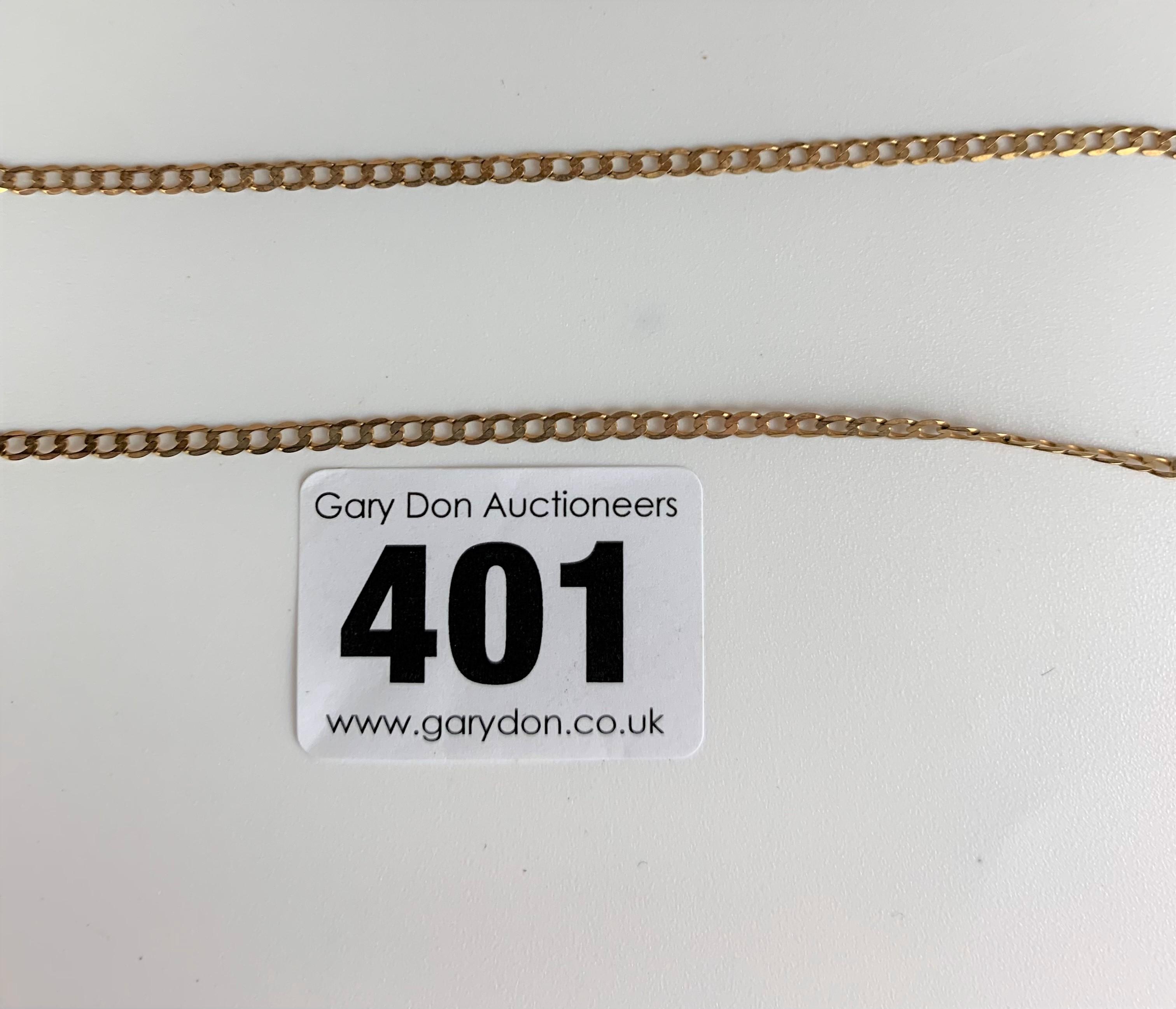 "9k gold necklace, length 20"", w: 2.5 gms - Image 2 of 3"