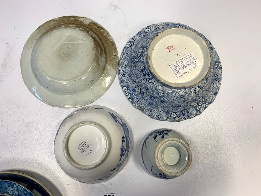 13 assorted blue/white plates and dishes - Image 6 of 6