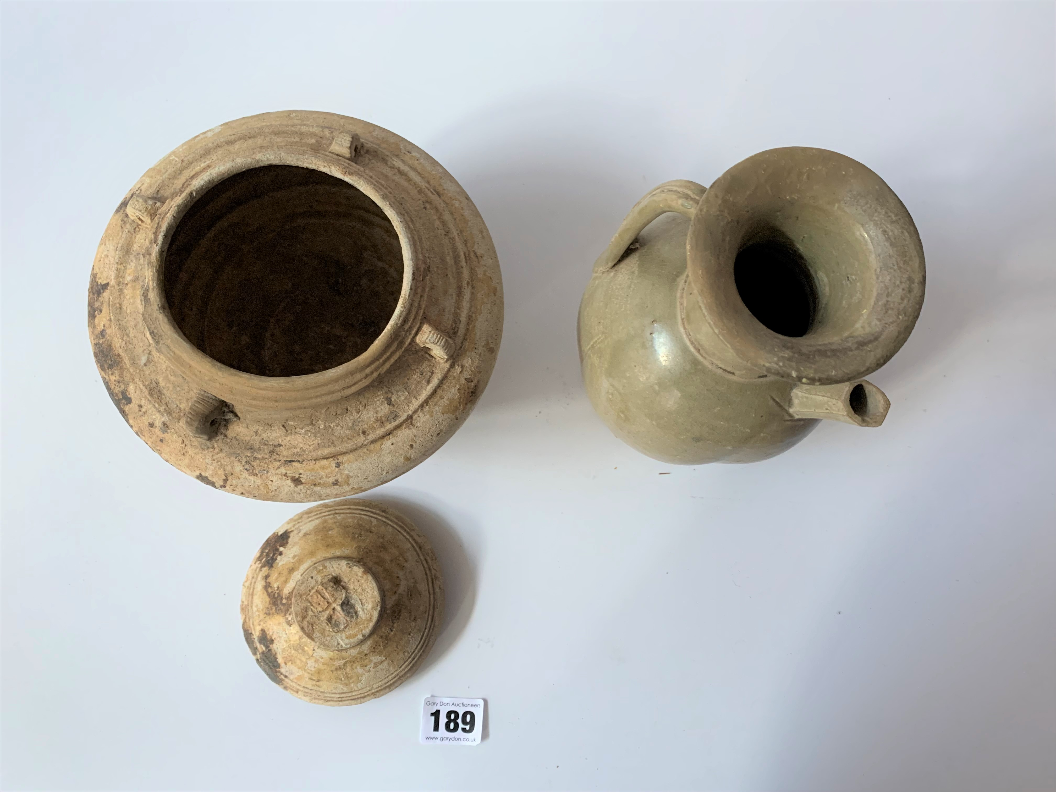 4 stoneware vases - Image 6 of 7