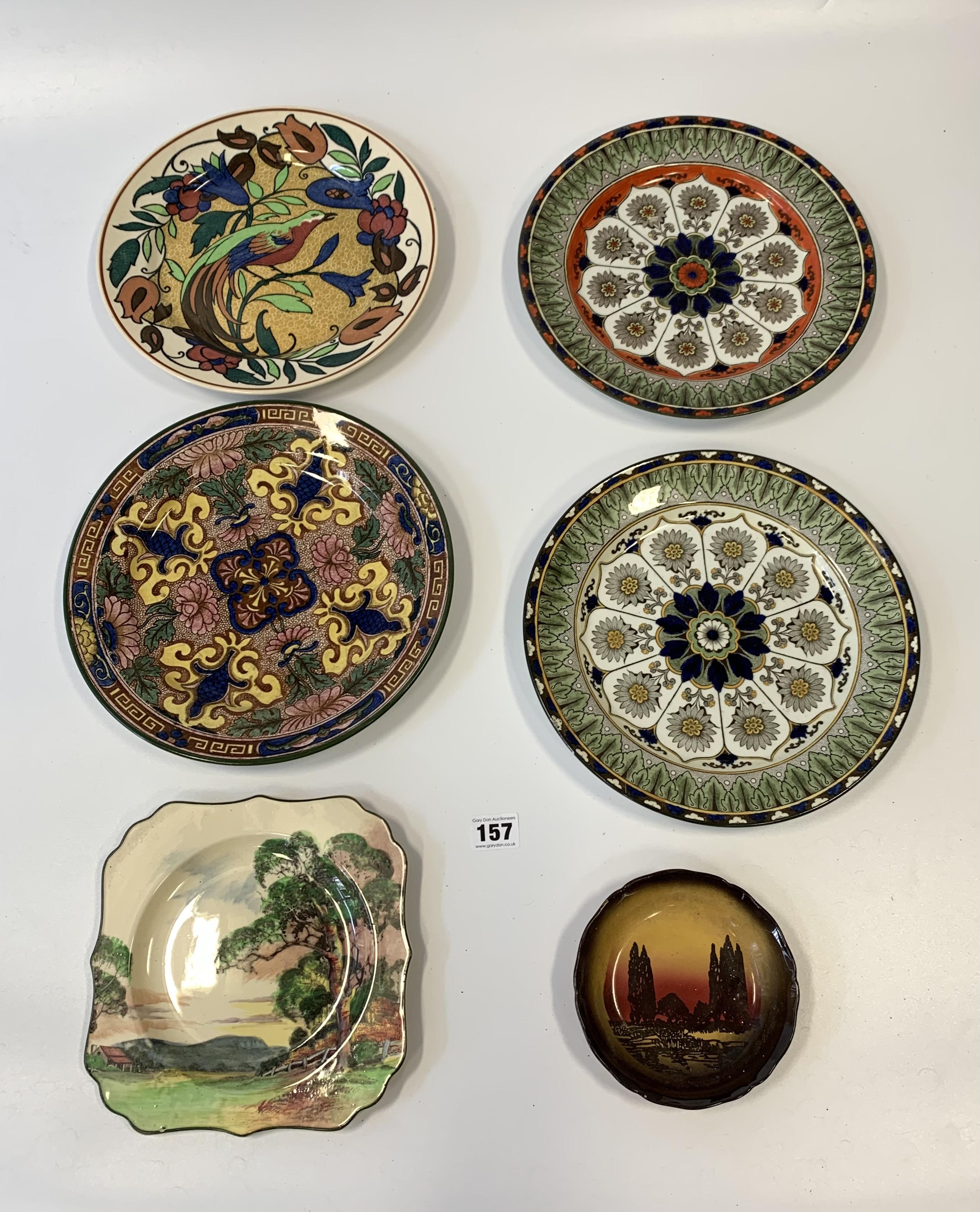 "4 Royal Doulton plates, 10.5"" diameter, shaped Royal Doulton plate 9"" diameter and Royal Doulton - Image 2 of 8"
