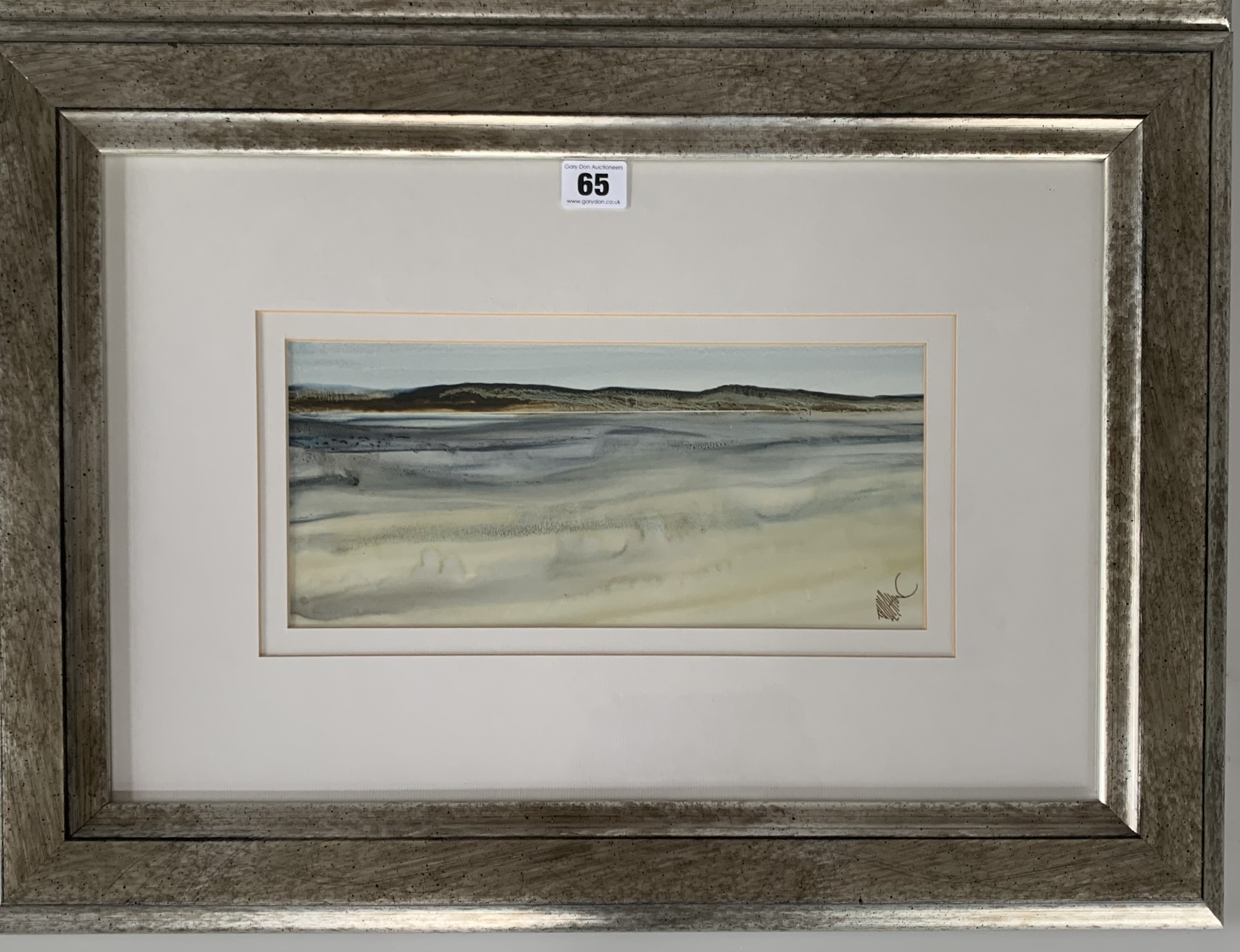 """Pair of watercolours """"Donegal Coast II"""" and """"Donegal Coast III"""" by Tony Holahan. Images 12"""" x 5. - Image 2 of 6"""
