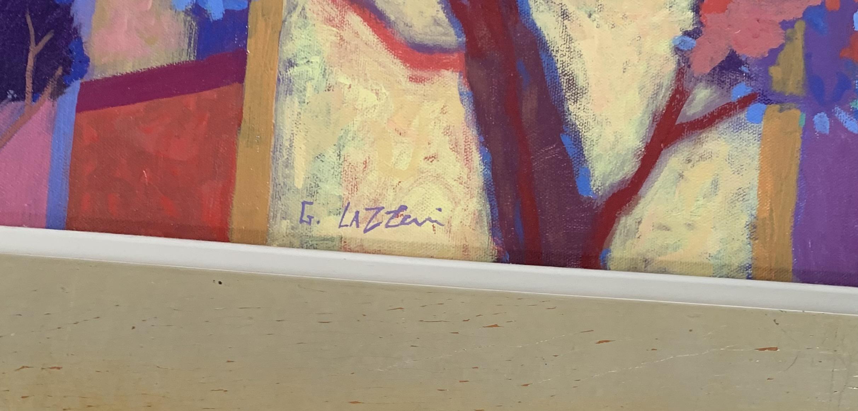 "Acrylic on canvas ""Summer Song"" by Giuliana Lazzarini 2001. Image 20"" x 24"", frame 27"" x 31"" - Image 2 of 3"
