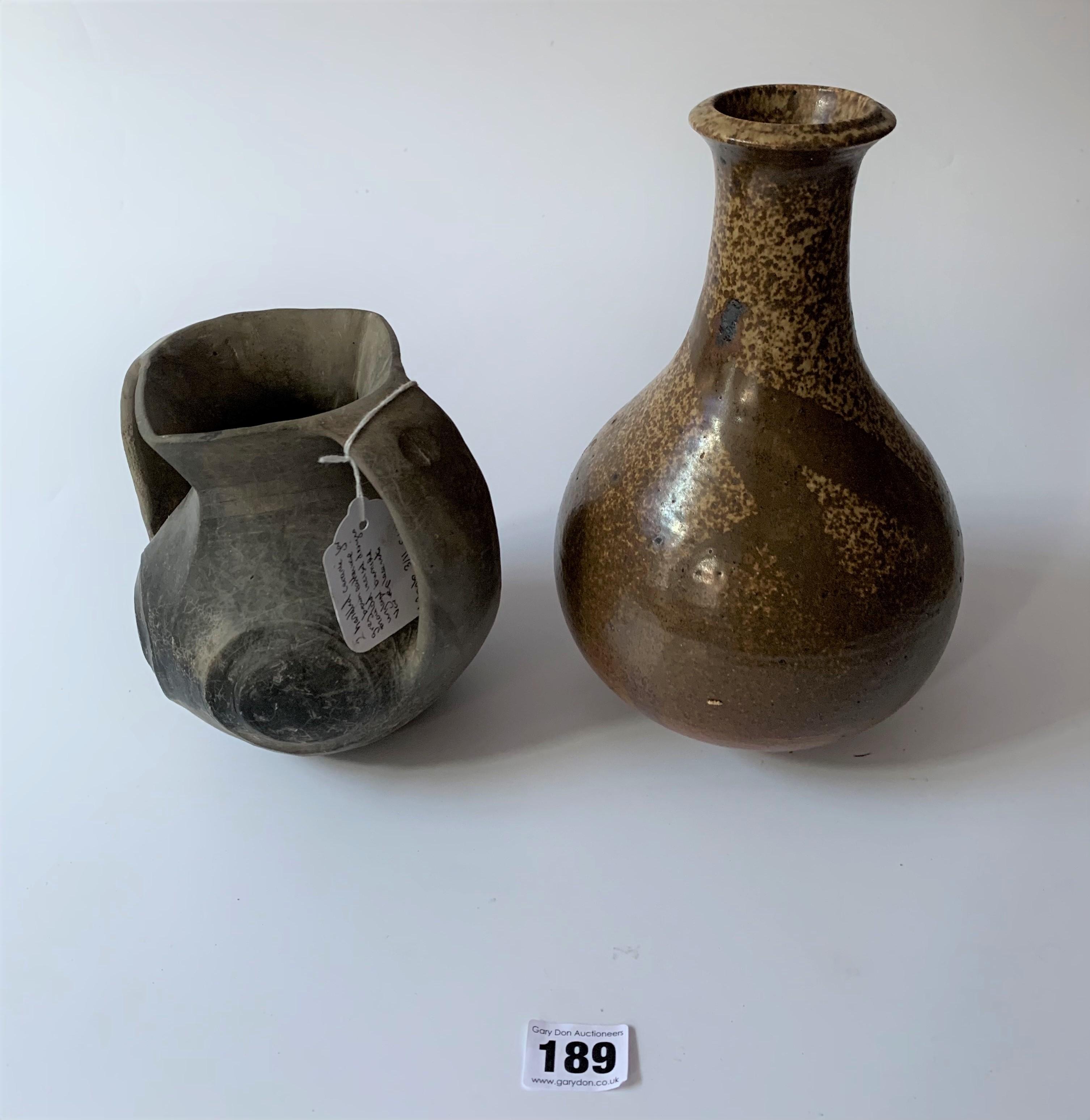 4 stoneware vases - Image 2 of 7