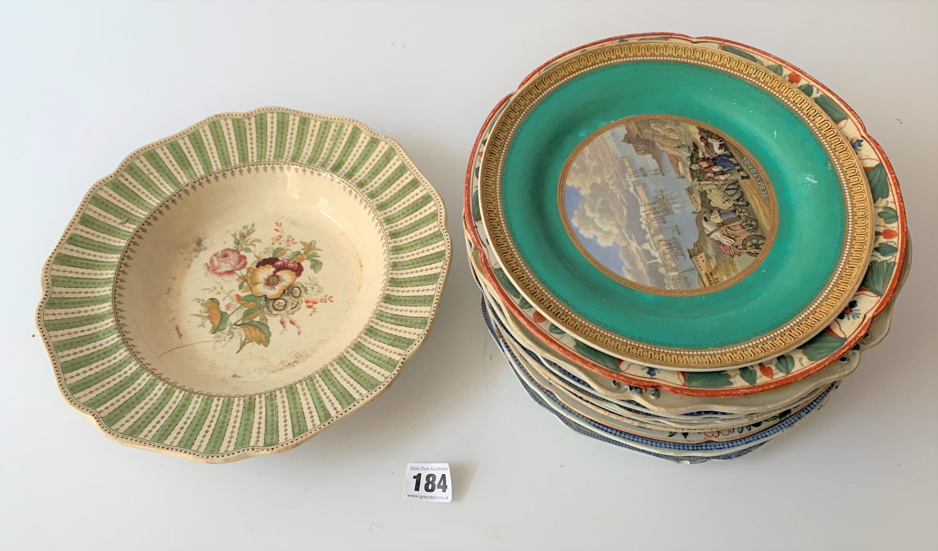 """16 assorted plates and dishes 8"""" – 11"""" diameter"""