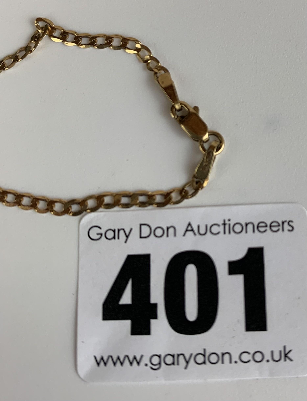 "9k gold necklace, length 20"", w: 2.5 gms - Image 3 of 3"