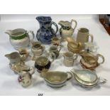 17 assorted jugs