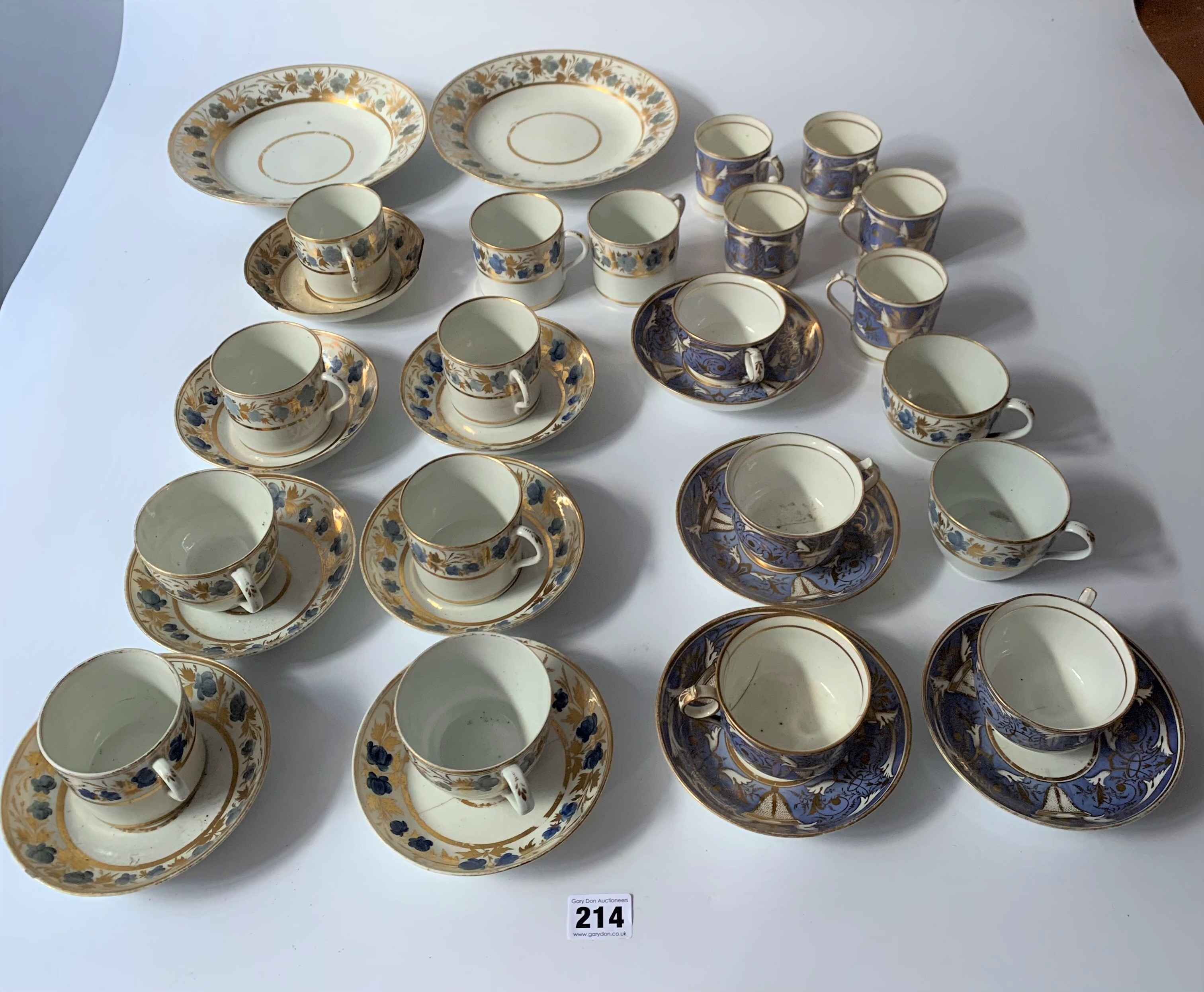 2 part blue/gilt tea and coffee sets - Image 2 of 6