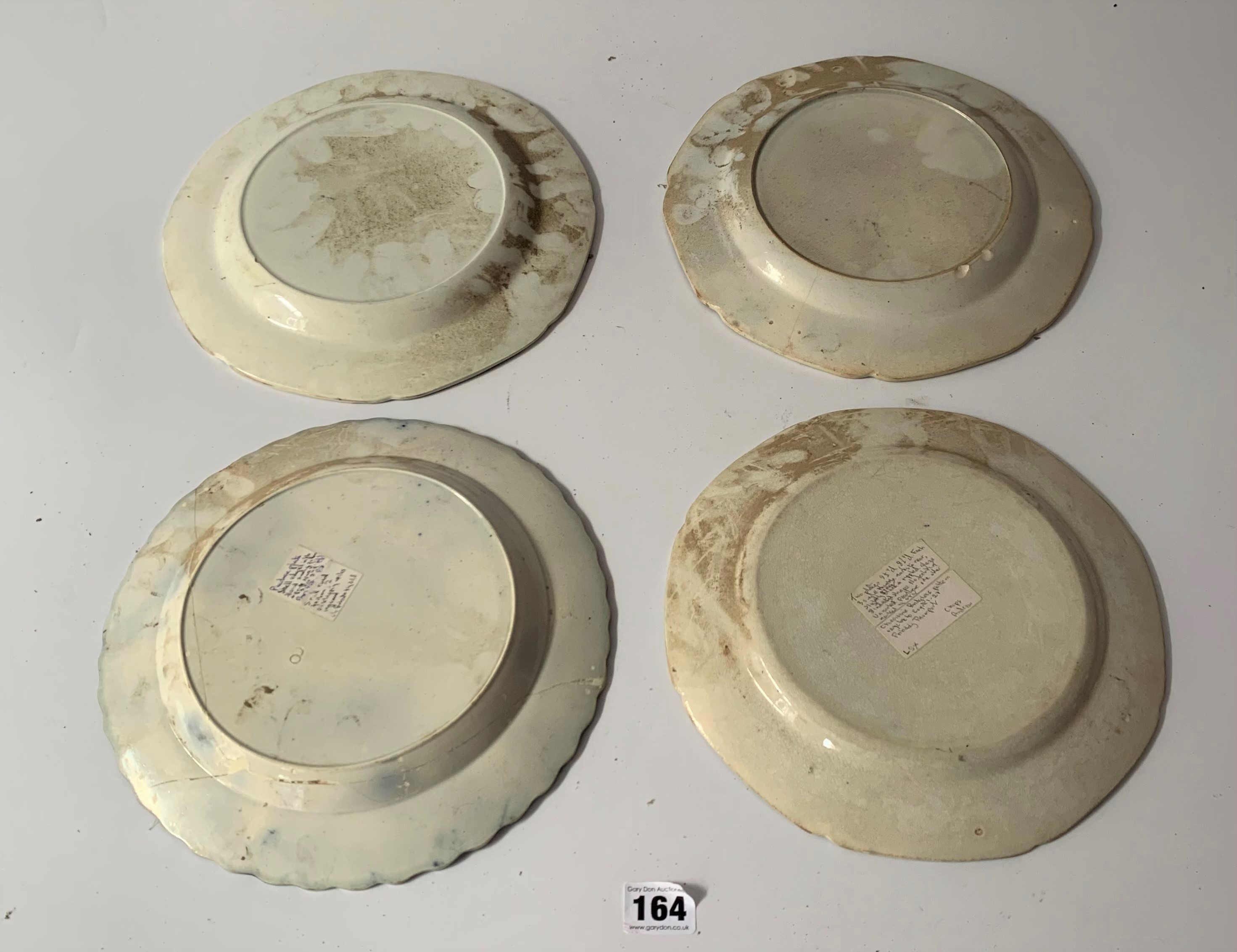"""12 assorted blue/white plates (chipped) 8"""" – 10"""" - Image 10 of 10"""
