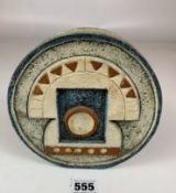 """Troika wheel shaped vase 6.5"""" diameter. Signed SB. No damage"""