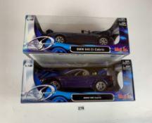 2 boxed Maisto Special Edition 1:18 die cast cars – BMW M6 Cabrio and BMW 645 Ci Cabrio