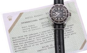 Fine and Rare Rolex Oyster Perpetual 'Milsub' Submariner stainless steel gentleman's wristwatch