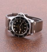 Rolex Oyster Perpetual Submariner stainless steel gentleman's wristwatch, ref. 5513, circa 1966,