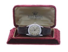 Rolex Oyster Perpetual Precision 'bubble back' stainless steel gentleman's wristwatch, ref. 6098,