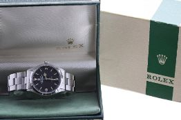 Rolex Oyster Perpetual Explorer Precision stainless steel gentleman's bracelet watch, ref. 5500,