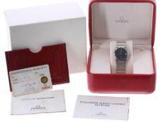 Omega Constellation stainless steel gentleman's bracelet watch, ref. 15123000, circa 1998, serial