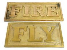 GWR railway interest - large and heavy cast brass replica name plate for the mid 19th century '