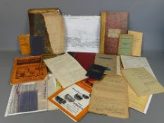 Large collection of railway ephemera relating to GWR including drawings, logs, booklets, magazines