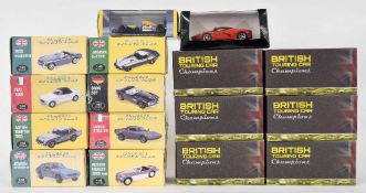 Eight Editions Atlas 1:43 scale die cast model 'Classic Sport Cars'; together with six Britis