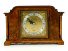 Walnut Elliott of London eight day mantel clock (in working order)