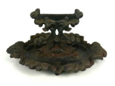 Victorian cast iron boot scraper