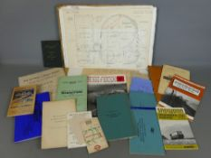 Collection of general railway ephemera including drawings and booklets etc