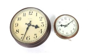 """Small Synchronome thirty-second slave dial, the 5.5"""" cream dial within a bulkhead type open sided"""