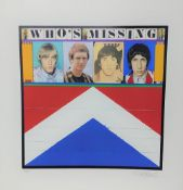 """The Who - 'Who's Missing' limited edition silk screen print by Richard Evans, no. 175/250, 26.5"""" x"""