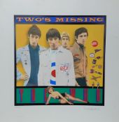 """The Who - 'Two's Missing' limited edition silk screen print by Richard Evans, no. 145/250, 26.5"""" x"""