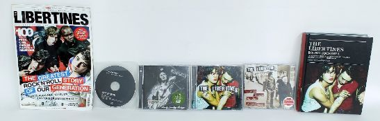 The Libertines - self-titled album in CD format signed by Carl Barat to the front; together with '