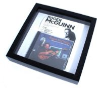 Roger McGuinn (The Byrds) - autographed copy of 'Treasures from the Folk Den' CD, mounted with a