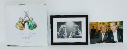 Status Quo - autographed copy of Status Quo - 'Pictures Forty Years of Hits', signed to the front