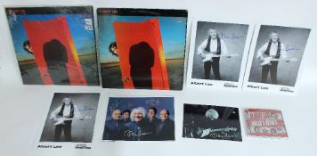 Albert Lee - autographed 'Hiding' vinyl record, signed by Albert Lee in green pen to the back,