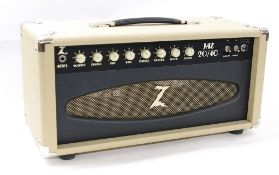 Dr. Z Jaz 20/40 guitar amplifier head, made in USA, ser. no. T2906, dust cover