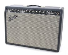 Fender '65 Deluxe Reverb-Amp guitar amplifier, made in USA, ser. no. AC037930, dust cover