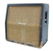 1967 Marshall 4 x 12 guitar amplifier speaker cabinet, made in England, ser. no. 25747, with