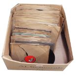 Collection of various old gramophone records with His Master's Voice, Columbia and Decca labels etc.