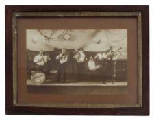 Original framed photograph of the Green Mill Jazz Orchestra of Bathurst, circa 1928