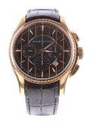 Hamilton Aquariva automatic chronograph gold plated gentleman's wristwatch, ref. H346460 no. 07xx/
