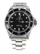 Rolex Oyster Perpetual Submariner stainless steel gentleman's bracelet watch, ref. 14060, circa